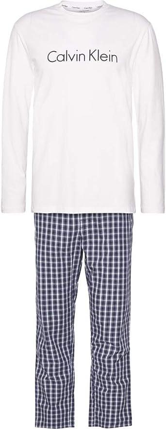 Calvin Klein L/S Pant Set Juego de Pijama para Hombre
