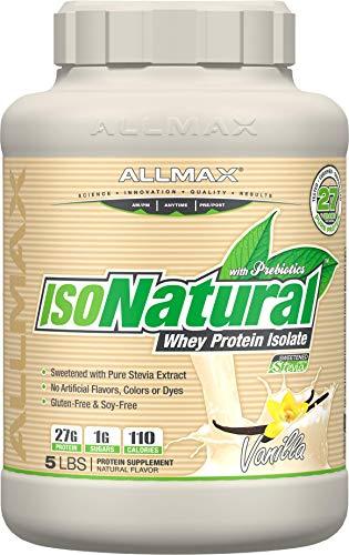ALLMAX Nutrition Isonatural Whey Protein Isolate, Vanilla, 5 ()