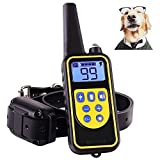 Shock Collar for Dogs,Dog Training Collar 800 Yard Dog Shock Collar with Remote IPX7 100% Waterproof and Rechargeable for All Size Dogs For Sale