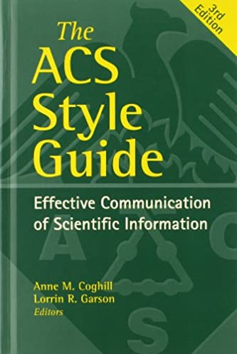 the acs style guide effective communication of scientific rh amazon com