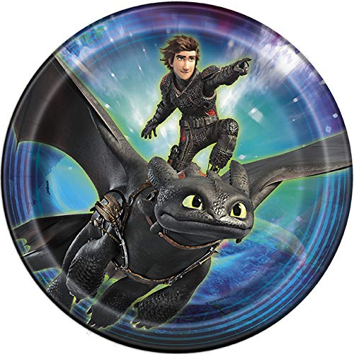 How To Train Your Dragon 3 Birthday Decorations And Tableware Plates Napkins Cups Table Cover Banner Premium Plastic Cutlery Serves 16 by FAKKOS Design (Image #2)
