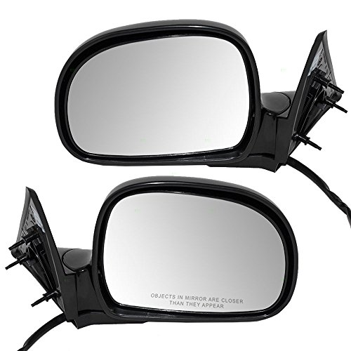 Driver and Passenger Power Side View Mirrors Ready-to-Paint Replacement for Chevy GMC Oldsmobile Isuzu Pickup Truck SUV 17801665 8192563650