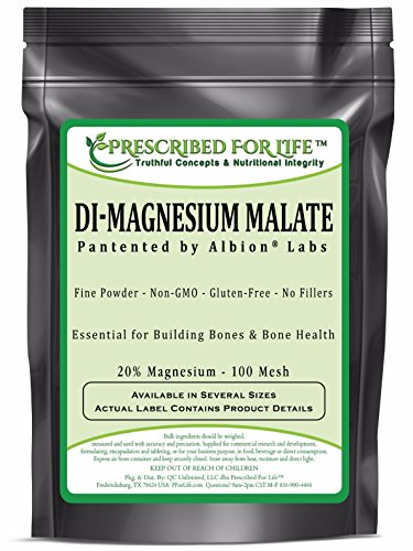 Powder Magnesium Malate - Magnesium - DiMagnesium Malate Powder - 20% Mg by Albion, 12 oz