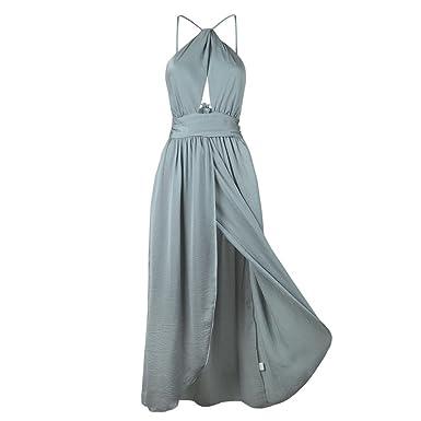 54dee82ab78 Lenfesh Salope Sexy - Robe croisée Devant croisée - Longue Robe Une pièce   Amazon.fr  Vêtements et accessoires