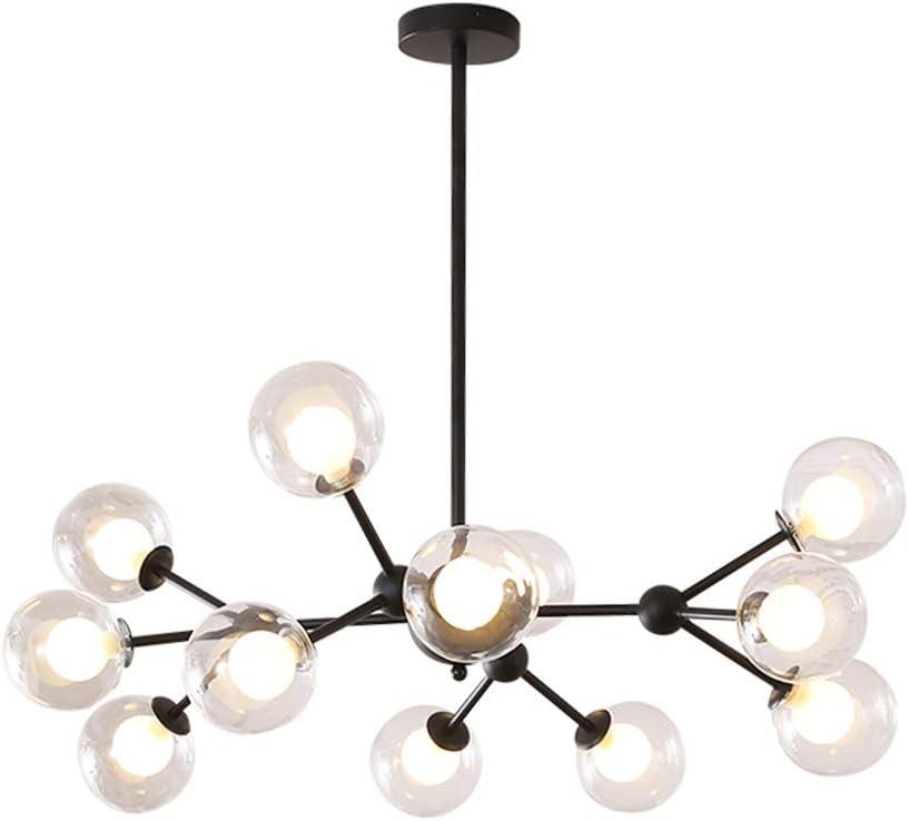 Surpars House Sputnik Chandelier, 12 Lights Modern Ceiling Light for Bedroom,Living Room,Dining Room,Black