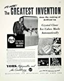 1948 Ad Automatic Ice Cube Maker York Refrigeration Air Conditioning Machine - Original Print Ad