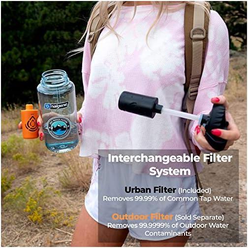 Epic Nalgene OG | Water Bottle with Filter | USA Made Bottle and Filter | Dishwasher Safe | Filtered Water Bottle… |