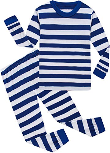 Baby Boys Clothes Girls Christmas Striped Pajamas Toddler Kids Pants Set Children Sleepwear 5t -