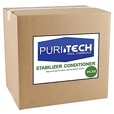 Puri Tech Stabilizer Conditioner Cyanuric Acid UV Protection for Swimming Pools and Spas (25lbs)