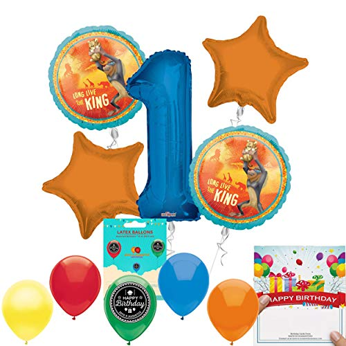 Lion King Party Supplies 1st Birthday Balloon Decoration]()