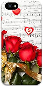 Roses Love And Music Apple iPhone 5 5S Case, 3D iPhone 5 5S Cases Hard Shell Cover Skin Cases