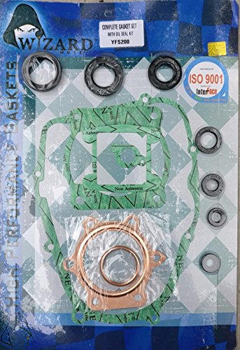 Wizard Moto Yamaha Blaster YFS200 88-06 Gasket Kit Complete Set with Oil Seals ()