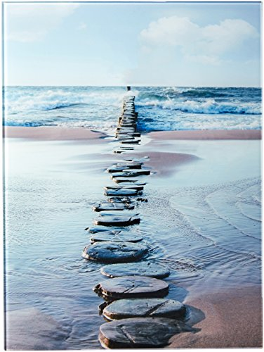 Cortesi Home Stepping Stone Tempered Glass Wall Art, 12