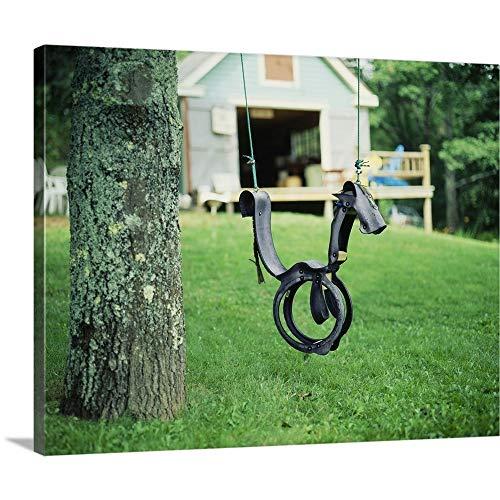 (Solid-Faced Canvas Print Wall Art Print Entitled Horse Swing Nova Scotia Canada 20