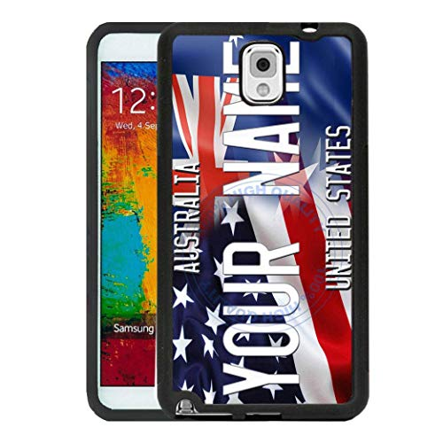 (BRGiftShop Personalize Your Own Mixed USA and Australia Flag Rubber Phone Case For Samsung Galaxy J7 2018)