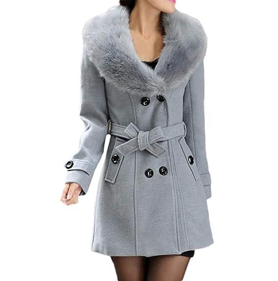 Manteau Jacket Trenchcoat Femme Caban Femme Laine Double