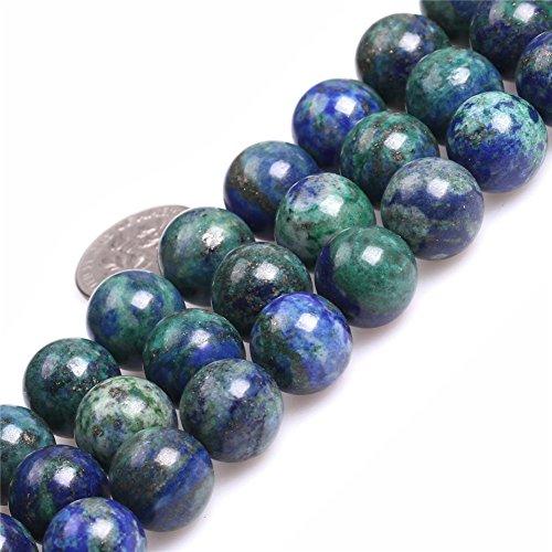 - Lapis Lazuli Malachite Beads for Jewelry Making Gemstone Semi Precious 12mm Round 15
