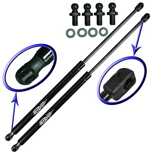 Two Rear Hatch Liftgate Gas Charged Lift Supports for 1989-1990 Nissan 240 SX, 1987-1995 Nissan Pathfinder. With 4 Replacement Studs and Washers. WGS-337-2
