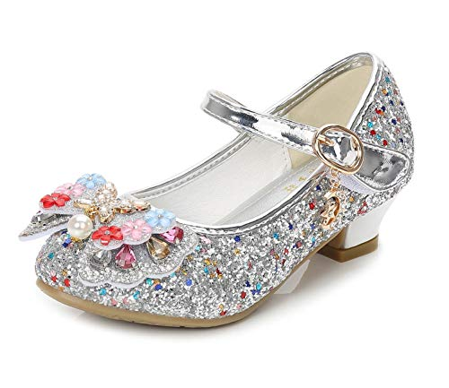 Kinkie Little Girls Ballet Mary Jane Flats Sparkle