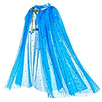 Party Chili Princess Cape Cloaks for Little Girls Dress Up Blue 3-4 Years (S)