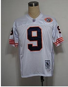 Jim Mcmahon # 9 Camiseta de Fútbol Americano DE 22,9 Jersey Blanco, Multicolor