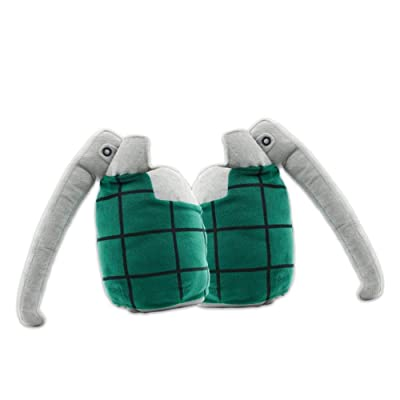 Mikucos Boku no My Hero Academia Katsuki Bakugo Gloves Cosplay Toy Plush Pillow Prop 2pc: Home & Kitchen