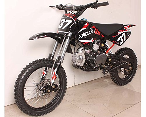 APOLLO AGB-37B 125CC 4 STROKE DIRT BIKE / PIT BIKE W/ 17 INCH FRONT TIRE & 14 INCH REAR