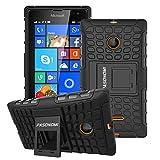 Lumia 435 Case, Pasonomi® Heavy Duty Hybrid Armor Case Cover with Soft Inner Skin and Kickstand For Microsoft Nokia Lumia 435 (Armor Series Black)