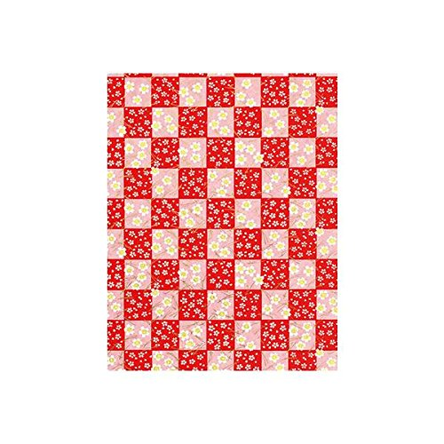 Red Check Washi Origami-Papier