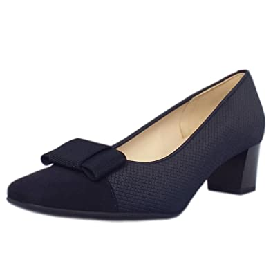 a0e395a143e1 Peter Kaiser Gristina Low Heel Wide Fit Shoes in Navy Suede  Amazon.co.uk   Shoes   Bags