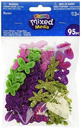 Darice Foam Sticker Confetti-Dragonfly N Butterfly 95/Pkg