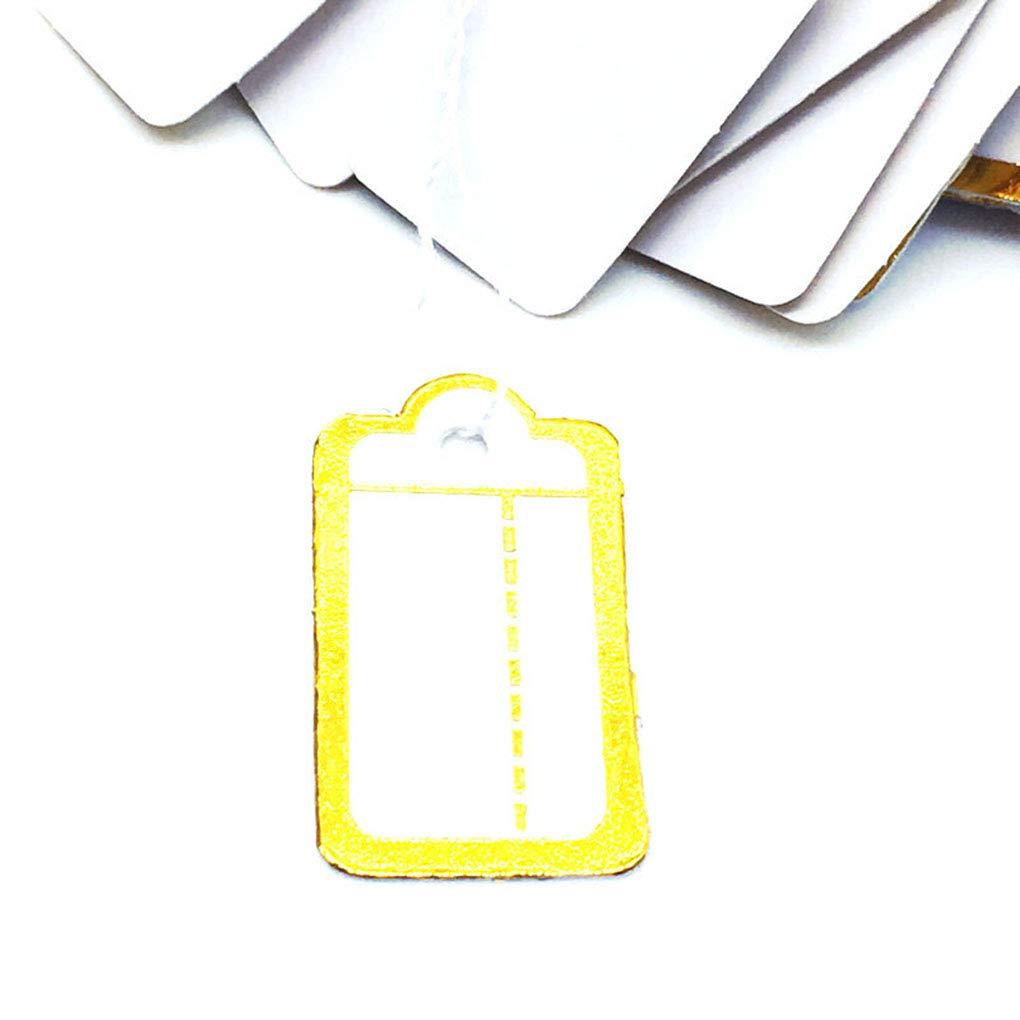 f8db9bd0d8b6 Amazon.com: Four 500Pcs Paper Golden Edge Label Tie String Strung ...