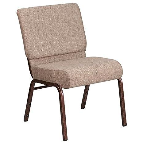 Amazon.com: Bowery Hill silla de iglesia de tela en Beige y ...