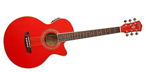 Washburn EA10R Guitarra Electroacústica - rojo