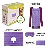 Nature Creation Ultimate Set- Herbal Heat Pack / Cold Pack - Hot and Cold Therapy (Purple Marble)