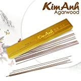 Kim Anh Agarwood Incense Sticks Grade B+ -Vietnam Agarwood Aligawood Aloeswood incense sticks - Premium Incense Sticks - Meditation oudh incense sticks – tibetan incense sticks 20g, 110 sticks