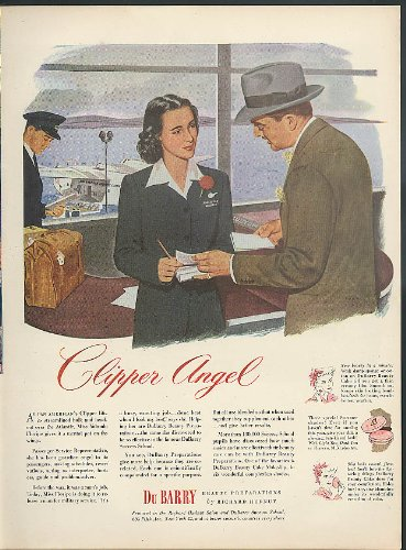 (Yolanda Floripe Pan Am Clipper Angel Service Representative DuBarry ad 1944)