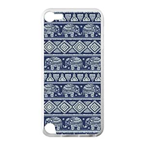 Canting_Good Elephant aztec tribal Custom Case Shell Skin for IPod Touch 5 TPU (Laser Technology) by lolosakes by lolosakes