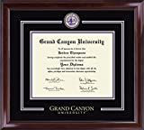Grand Canyon University Diploma Frame - Showcase Edition With Custom-Minted, Handpainted Medallion - Officially Licensed — By Church Hill Classics (Diploma Size 8.5''h x 11''w)