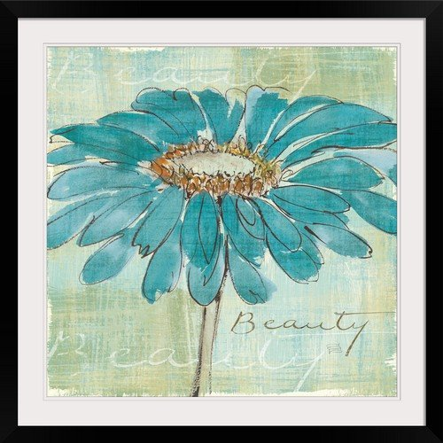 GreatBIGCanvas ''Spa Daisies I'' by Chris Paschke Photographic Print with Black Frame, 30'' x 30''