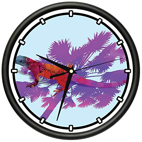 - Lizard King Design Wall Clock | Precision Quartz Movement | Décor for School Class Office Bedroom Decoration