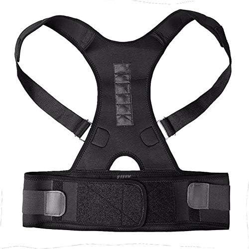 マグネティックハングバック姿勢ベルト、調節可能な背中の支えが姿勢学生を改善近視の大人がギフトを与えるのに適した画像の気質を防ぐのを防ぐ (Size : XXL)