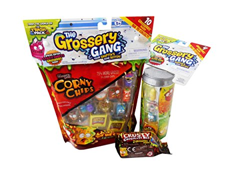 Grossery Gang 6-Boy Party Gift Bundle Season 1 Large Packs, Can Packs, and Crusty Bars