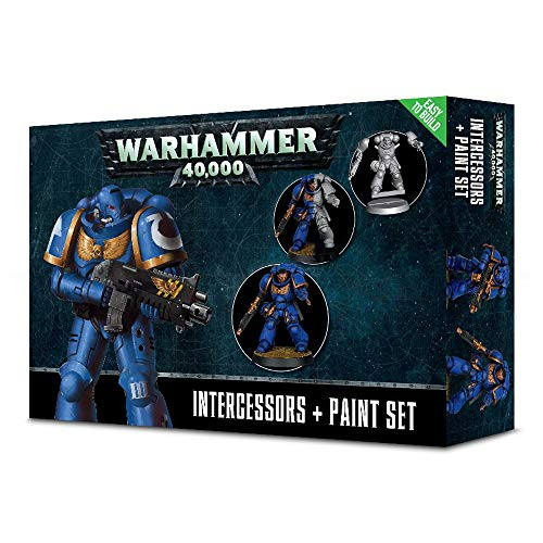 Games Workshop Warhammer 40,000 Intercessors + Paint Set