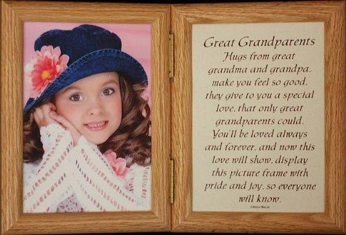 Amazon.com - 5x7 Hinged GREAT GRANDPARENTS Poem Oak Picture Photo ...