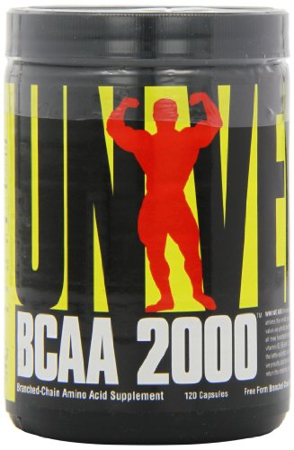 Universal Nutrition BCAA 2000 Pure Capsules, Free Form BCAAs with Co-Factors, 120-Count Bottles
