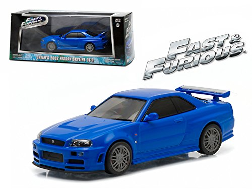 Maisto Brian's 2002 Nissan Skyline GT-R Blue Fast and Furious Movie (2009) 1/43 Model Car by Greenlight