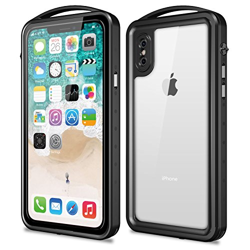 iPhone X Waterproof Case, SNOWFOX Outdoor Underwater Full Body Protective Cover Snowproof Dustproof Rugged IP68 Certified Waterproof Case for Apple...  iphone x cases 5.8 51qQJANqu8L