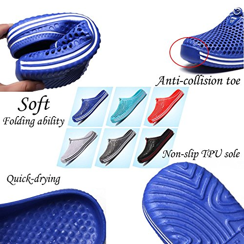 Men's Mule Women's Footwear Sandals Garden Water HMAIBO Slippers Clogs Breathable Shoes Blue xH64Yw