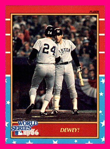 1987 Fleer World Series #9 Dwight Evans Rich Gedman BOSTON RED SOX NEW YORK METS    (Box109c)